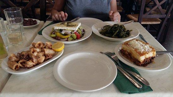 Scholarchio Restaurant: El menu que comimos por 30 euros.