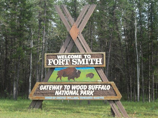 Fort Smith, NT welcome sign