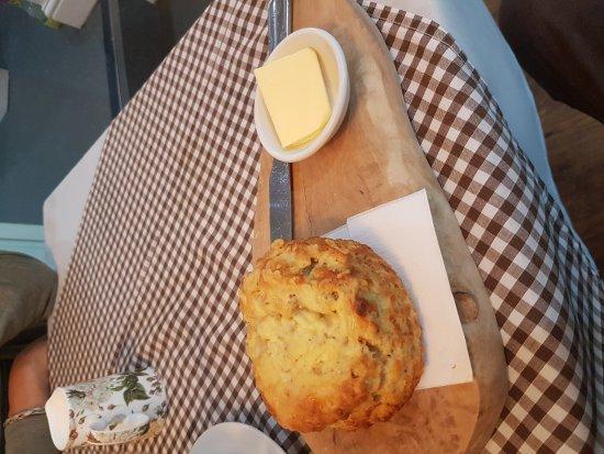 Morpeth, UK: Great tasty scone