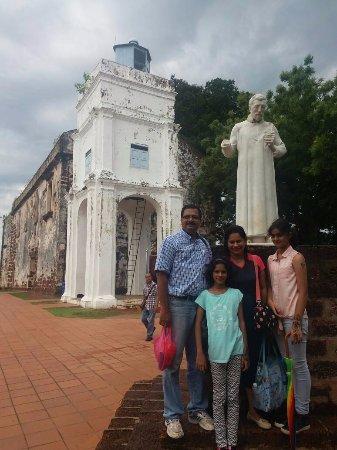 St. Paul's Hill & Church (Bukit St. Paul): statue of st Francis Xavier