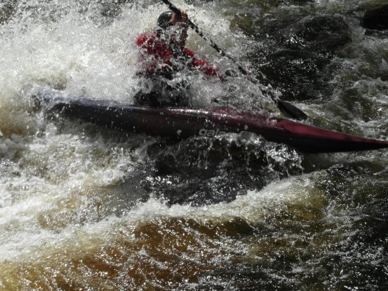 Sedbergh, UK: River Tryweryn in Wales Slalom training