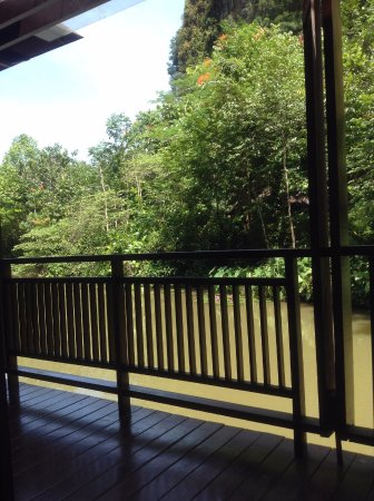 The Banjaran Hotsprings Retreat: View of the river from the verandah