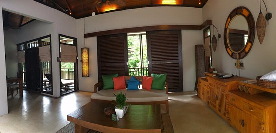 The Banjaran Hotsprings Retreat: The living area with verandah