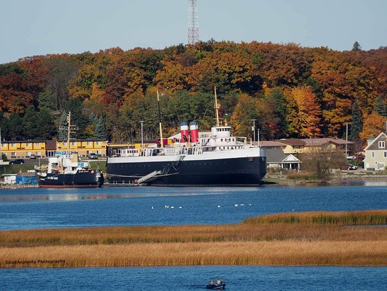Manistee, MI: The SS City of Milwaukee and USCGC Acacia on a beautiful fall day
