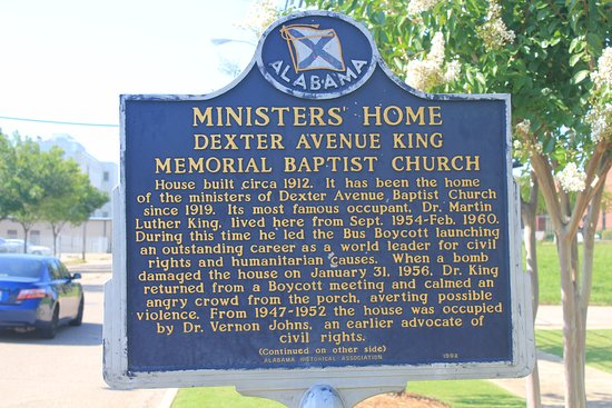 Dexter Parsonage Museum - Dr. Martin Luther King home: Signage outside of home.