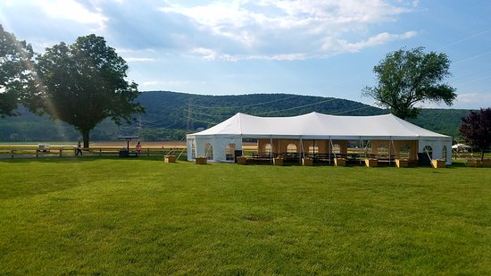 Hackettstown, NJ: The party tent can be rented and it's so beautiful!