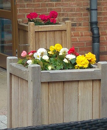 Gretna, UK: Nice place and bright flowers every where.