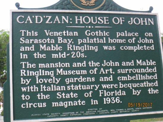Ca d'Zan Mansion: Ca d'Zan description