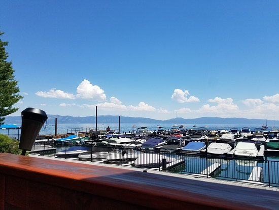 Tahoe City, Kalifornia: View from our table