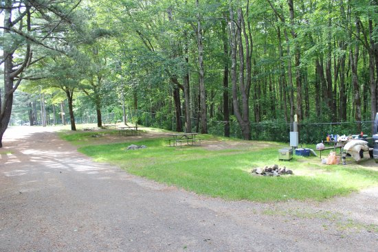 Wells Beach Resort Campground: Sites have no trees and are close to each other