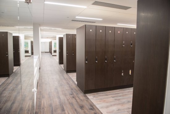 Our renovated locker rooms have a steam room and sauna available