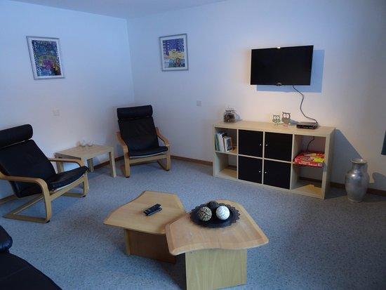 Saas-Grund, Ελβετία: Wohnzimmer Wohnung 2 & 4