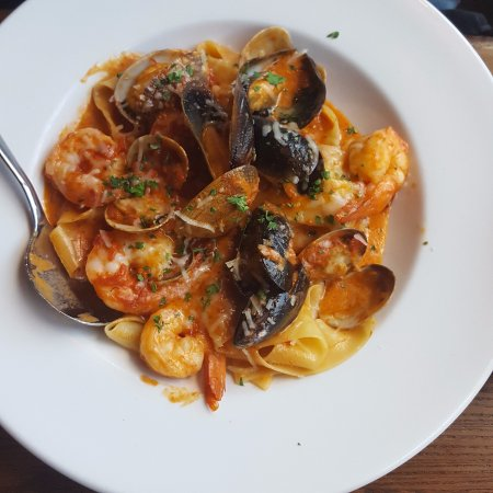 Rossland, Canada: Seafood Pappardelle