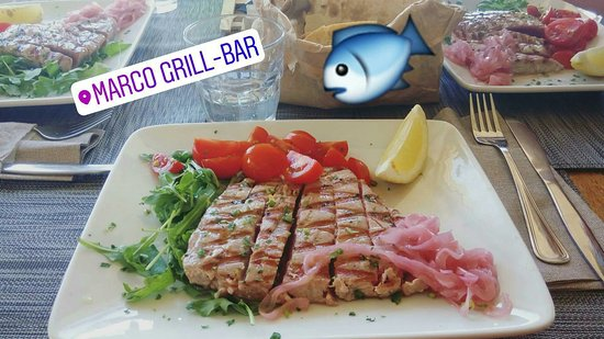 Porto Taverna, Italien: Grigliata di tonno