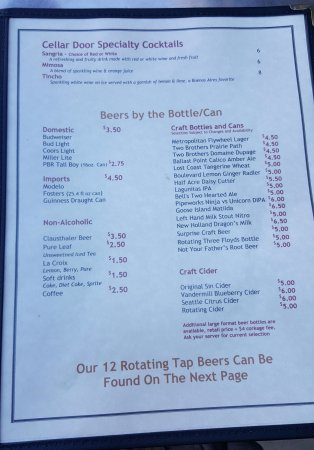Downers Grove, IL: Second page menu.