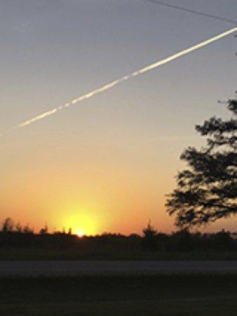 Algoma, WI: Roadside Sunset