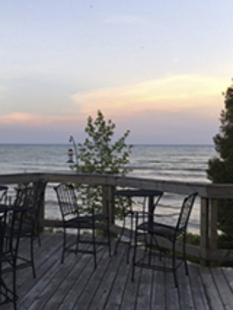 Algoma, WI: View from the deck by the Nautical Room