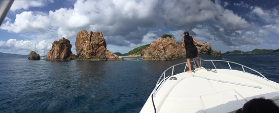 West End, Tortola: the best snorkeling spot with deborah getting us anchored