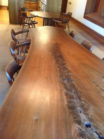 Chanhassen, MN: George Nakashima furniture in the Andersen Horticultural Library at Minnesota Landscape Arboretu