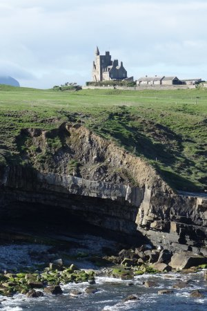 Classiebawn Castle back from the Cliff