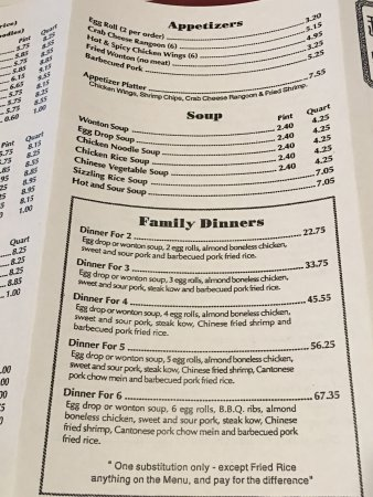 Davison, MI: The menu for Chee Kong Chinese Restaurant