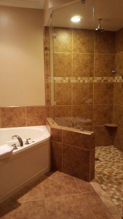 Berlin Resort: Room 131 shower bathroom