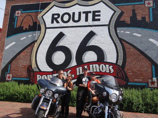พอนทีแอก, อิลลินอยส์: Uma parada obrigatória para quem está fazendo a Route 66.