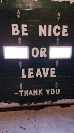 Strongsville, OH: Be nice or leave!
