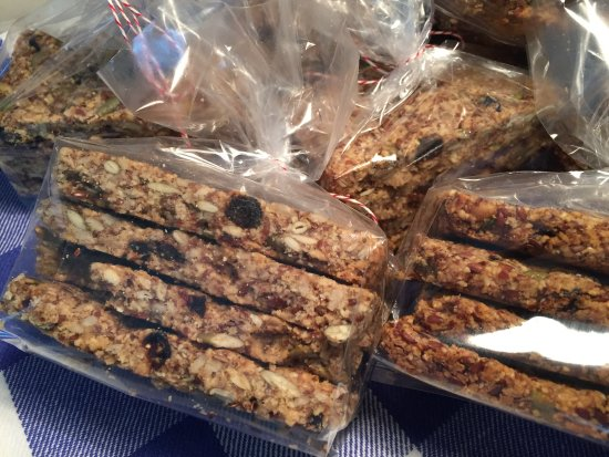 Chestertown, Μέριλαντ: Figg's very popular Power Crackers!  Almond flour and Seeds to power through your day!