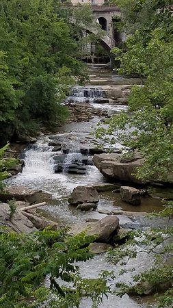Berea Falls in the southern part of Rocky River Reservation
