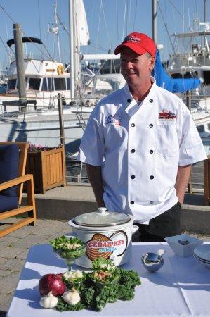 Tony's Seafood Restaurant : Chef Tony on National TV up in Newport, RI.