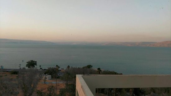 Royal Plaza : View of the Sea of Galilee from our hotel room.