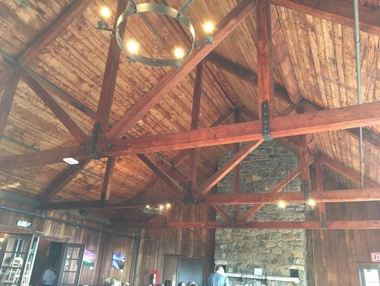 love the ceiling rafters and chandeliers picture of big meadows