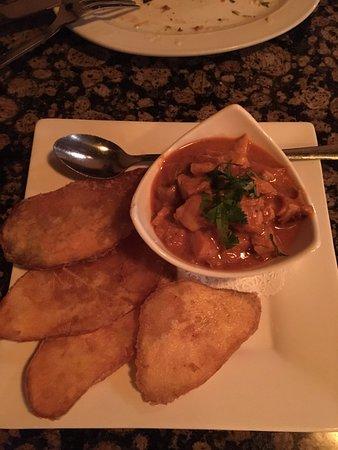 Ginger : tikki masala with sweet potato chips