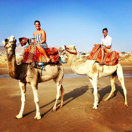 Tamraght, Morocco: Half way through our personal tour along the beach!