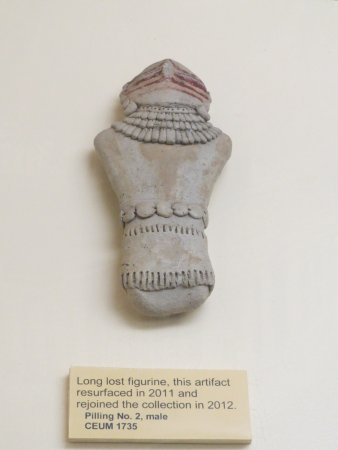 Price, UT: one of many Pillings figurines- this one had been lost until 2011