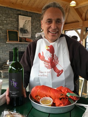 Bernard, ME: 2 1/2 lb lobster and a bottle of wine and I was done for the day!