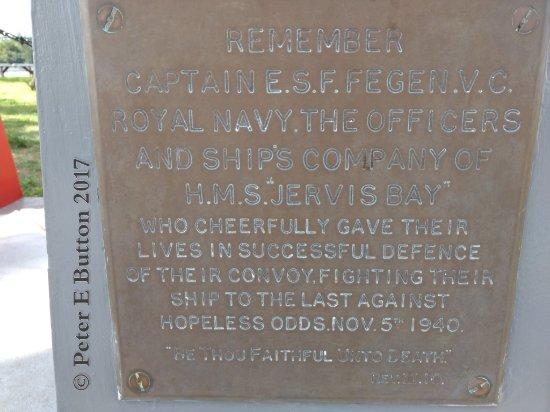 Hamilton, Bermudy: HMS Jervis Bay memorial