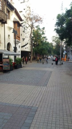 Barrio Lastarria: Calle Peatonal