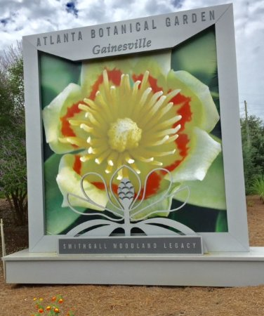 Welcome Sign To The Abg Gainesville Picture Of Atlanta Botanical Garden Gainesville Tripadvisor