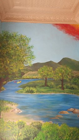 Camp Verde Visitor Center: Depiction of a stretch of the Verde River, of which winds through our Town for 14 miles.