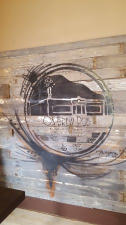 Baker, MT: The owners hand done logo inside the bar