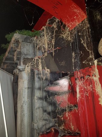Spookers Haunted Attractions: Spider Webb everywhere