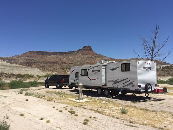 Maverick Ranch RV Park : View of our site looking North at Lajitas mountain