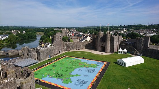 Pembroke, UK: View from the inner keep