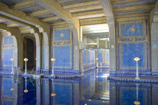 Hearst Castle: Many of the Murano glass tiles in the indoor pool are decorated with gold flake.
