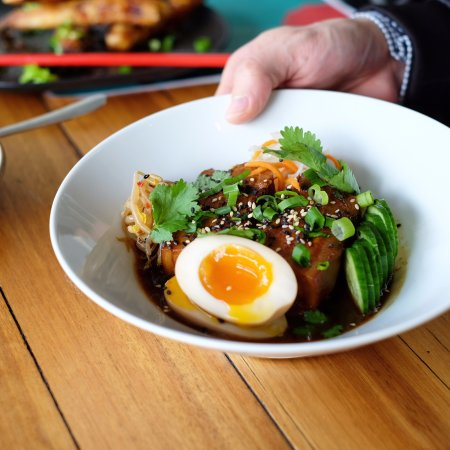 Richmond, Australia: Caramelised Braised Pork Belly with eggs