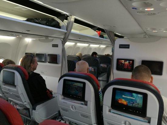 inside airplane picture of turkish airlines world tripadvisor. Black Bedroom Furniture Sets. Home Design Ideas