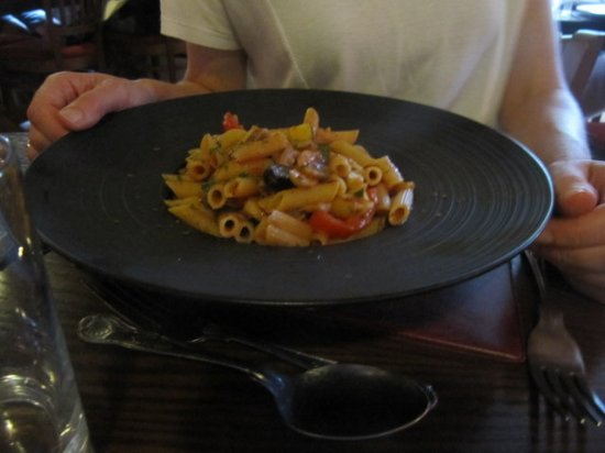 Baslow, UK: Also gluten free pasta possible - this is a fine example!