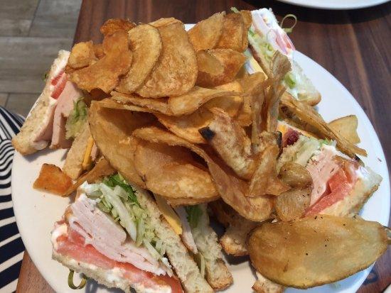 Glen Burnie, MD: Club sandwich & chips